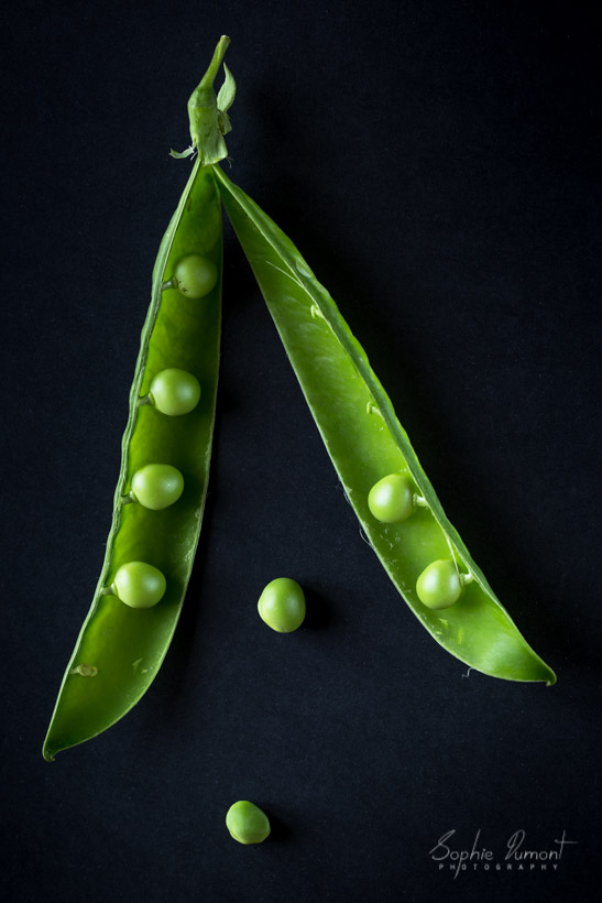 shelling the peas